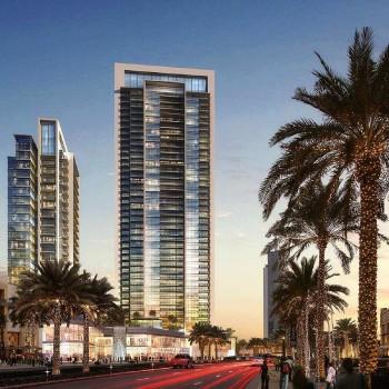 Boulevard Crescent nel centro di Dubai, lanciato nel 2014, è composto di 2 torri, collegate tra di loro da un podio, offre soluzioni immobiliari raffinate.