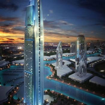 """DAMAC Heights, straordinario grattacielo in costruzione, fronte mare, di 86 piani, ed offre una vista panoramica ininterrotta del mare e della """"Palm Jumeirah"""""""