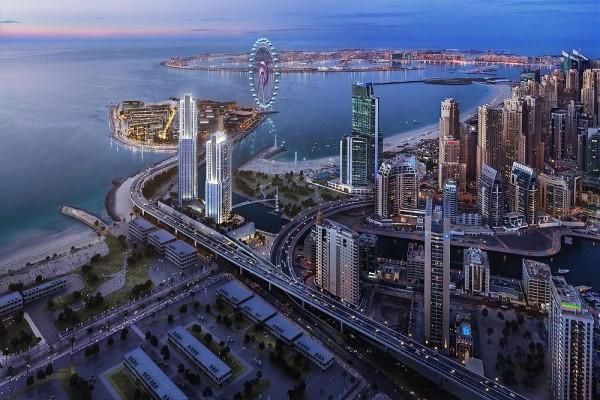 52 42 Residence di 2 grattacieli in costruzione a Dubai Marina con fantastiche viste anche su Dubai Eye, la ruota panoramica più grande del mondo.